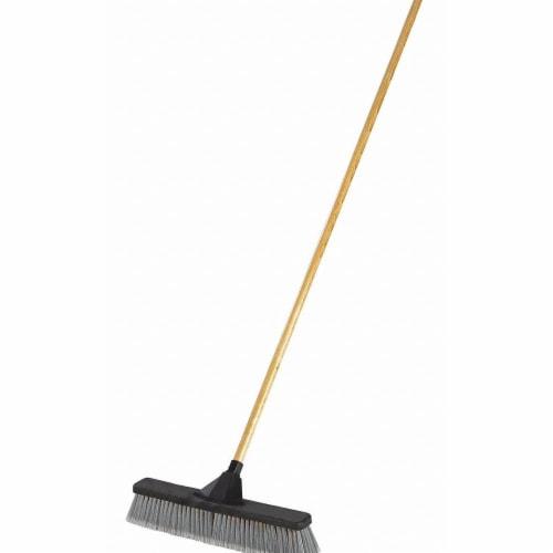 Rubbermaid Push Broom,3  L Trim,Gray Bristle  2040055 Perspective: front