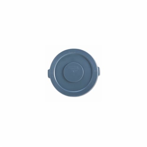 Rubbermaid 263100GY Round Lid for Brute 32-Gallon Waste Containers  22-1/4   Diameter  Plasti Perspective: front