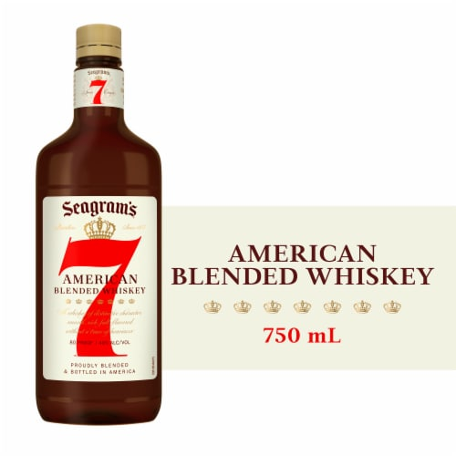 Seagram's 7 American Blended Whiskey Perspective: front