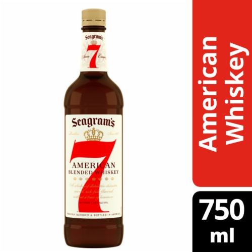 Seagrams 7 American Blended Whiskey Perspective: front