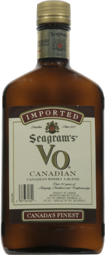 Seagram's VO Blended Canadian Whisky Perspective: front