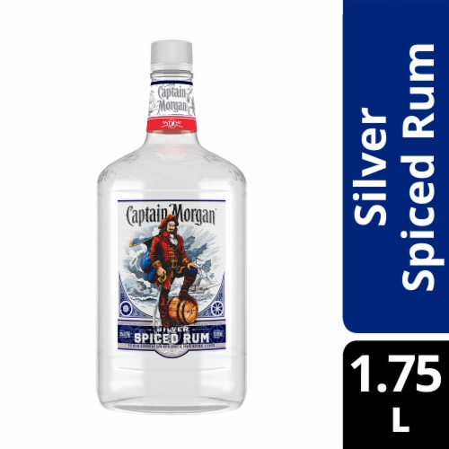 Captain Morgan Silver Spiced Rum Perspective: front