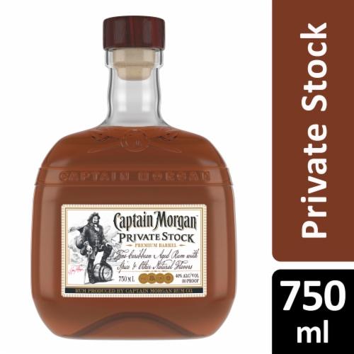 Captain Morgan Premium Barrel Private Stock Rum Perspective: front