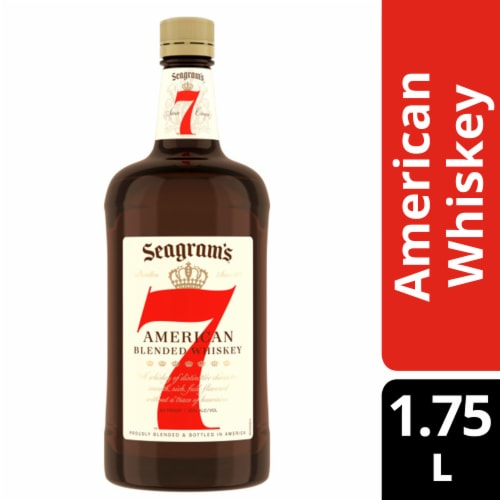 Seagram's 7 Crown American Blended Whiskey Perspective: front