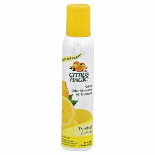 Citrus Magic Tropical Lemon Natural Odor Eliminating Air Freshener Perspective: front