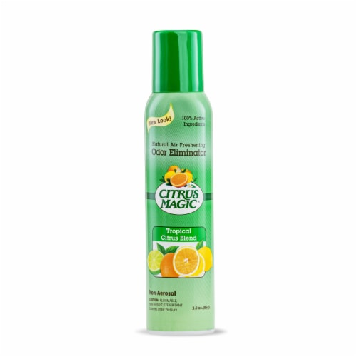Citrus Magic Tropical Citrus Blend Odor Eliminating Air Freshener Non Aerosol Perspective: front