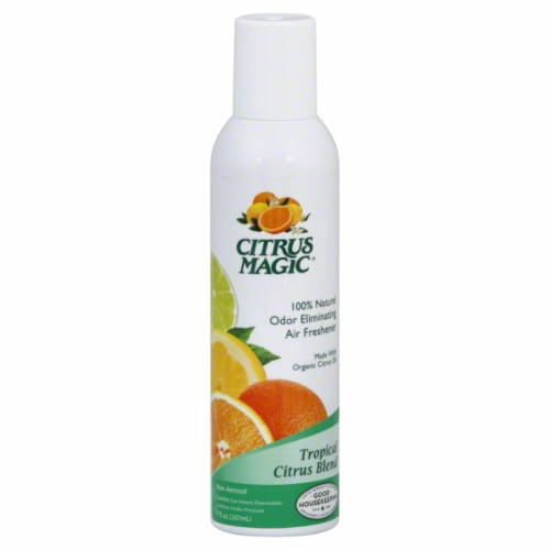 Citrus Magic Tropical Citrus Blend Natural Odor Eliminating Air Freshener Perspective: front