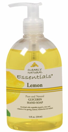 Clearly Natural Essentials Lemon Glycerin Hand Soap Perspective: front