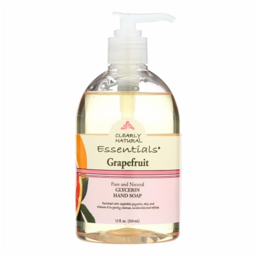 Clearly Natural Essentials Grapefruit Glycerin Hand Soap Perspective: front