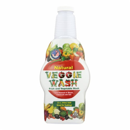 Citrus Magic All Natural Fruit and Vegetable Wash- Soaker Bottle - 32 fl oz Perspective: front