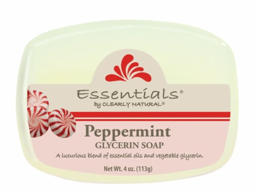 Clearly Natural Essentials Peppermint Glycerin Soap Perspective: front