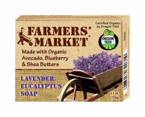 Farmer's Market Lavender Eucalyptus Soap Perspective: front