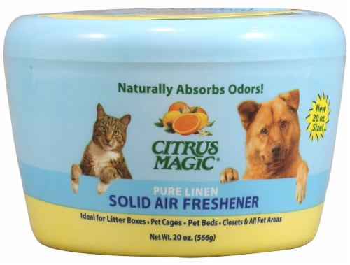 Citrus Magic Linen Pet Solid Air Freshener Perspective: front