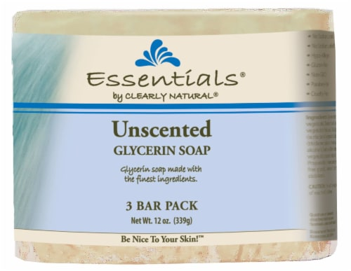 Clearly Natural Essentials Unscented Glycerine Soap Perspective: front