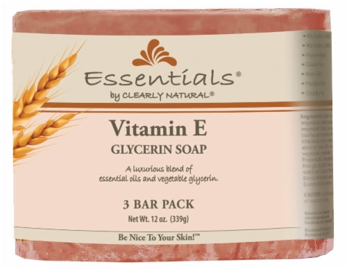 Clearly Natural Essentials Vitamin E Glycerin Soap Perspective: front