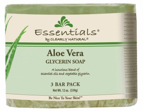 Clearly Natural Essentials Aloe Vera Glycerin Soap Perspective: front