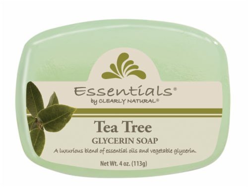 Clearly Natural Essentials Tea Tree Glycerin Soap Perspective: front
