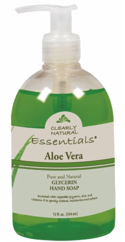 Clearly Natural Essentials Aloe Vera Glycerin Hand Soap Perspective: front