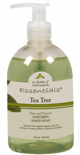 Clearly Natural Essentials Tea Tree Glycerin Hand Soap Perspective: front