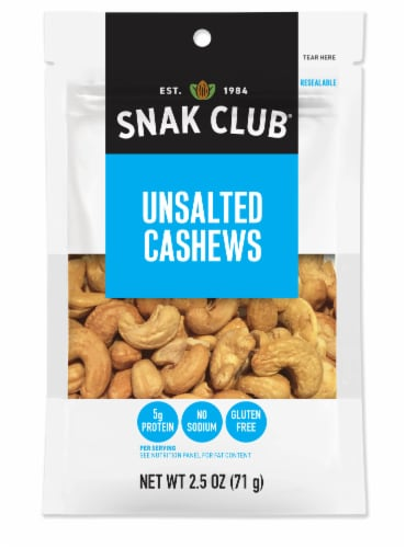 Snak Club Unsalted Cashews Perspective: front