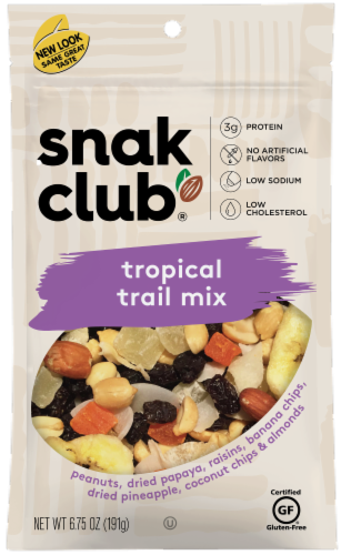 Snak Club Tropical Trail Mix Perspective: front