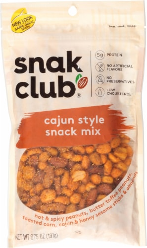 Snak Club Cajun Savory Style Snack Mix Perspective: front