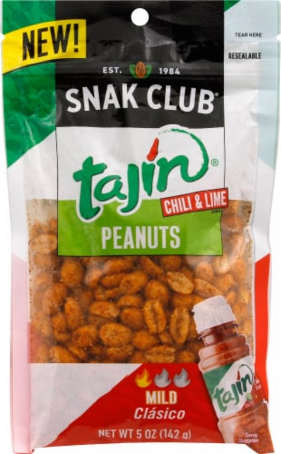 Snak Club Tajin Mild Chili & Lime Peanuts Perspective: front