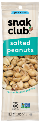 Snak Club® Grab & Run Salted Peanuts Perspective: front