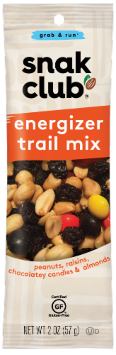 Snak Club Grab and Run Energizer Trail Mix Perspective: front