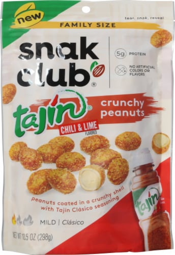 Snak Club Tajin Mild Chili and Lime Crunchy Peanuts Perspective: front