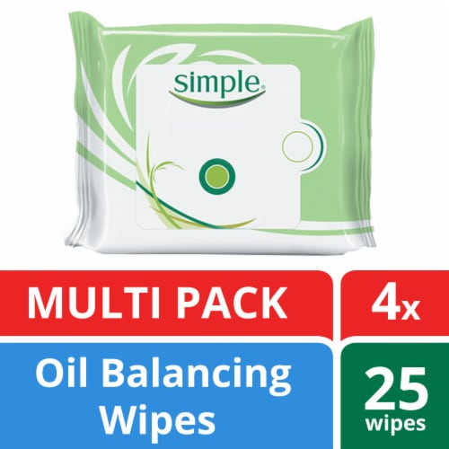 Simple Oil Balancing Cleansing Wipes Perspective: front