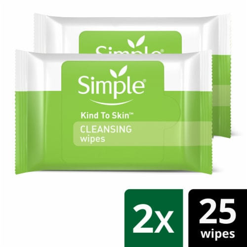 Simple Cleansing Facial Wipes Twin Pack Perspective: front