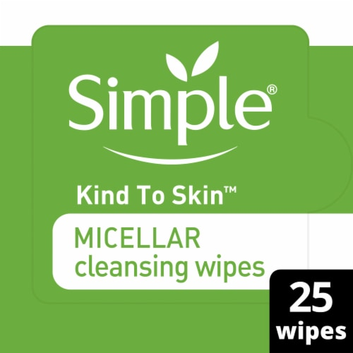 Simple Micellar Cleansing Wipes Perspective: front