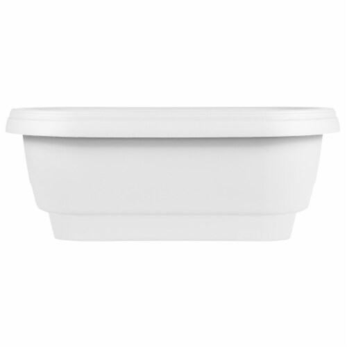 Bloem DR2409 24 in. Deckrail Planter, White Perspective: front