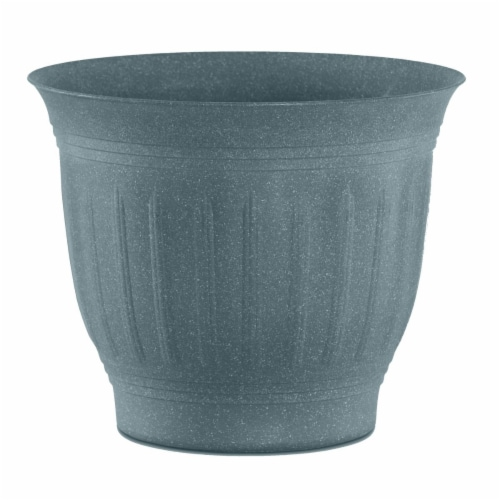 Bloem CLN12-54 12 in. Colonnade Wood Resin Planter, Forest Green Perspective: front