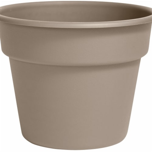 Bloem DC10-83 10 in. Dura Cotta Planter, Pebble Stone Perspective: front