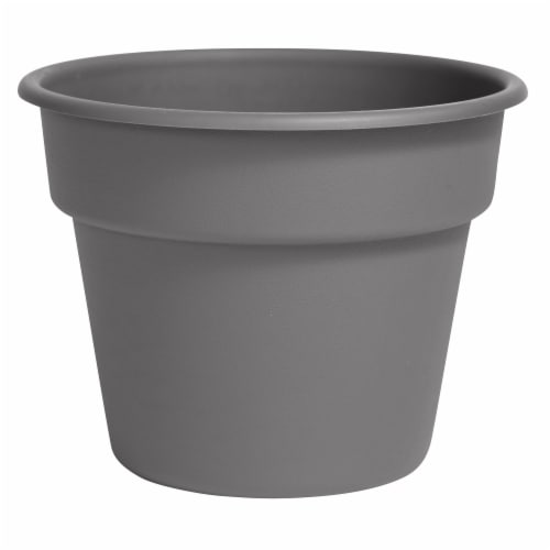 Bloem DC16-908 16 in. Dura Cotta Planter, Charcoal Perspective: front