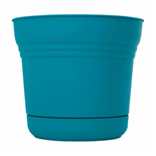 Bloem 7501547 4.5 x 5 in. Dia. Resin Planter, Teal Perspective: front