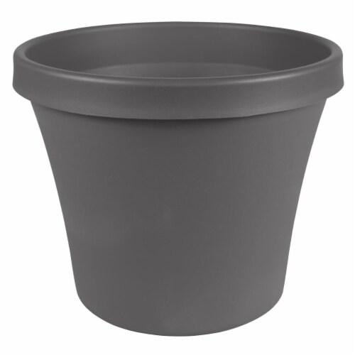 Bloem TR12908 12 in. Terra Pot Planter, Charcoal Perspective: front