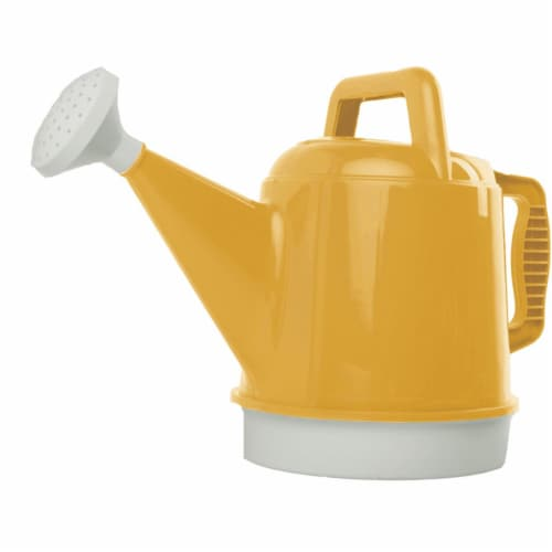 Bloem Watering Can Deluxe 2.5 Gallon Earthy Yellow Perspective: front