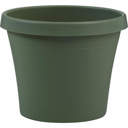 Bloem Terra Living Green 17 In. H. x 20 In. Dia. Polypropylene Planter 50420 Perspective: front