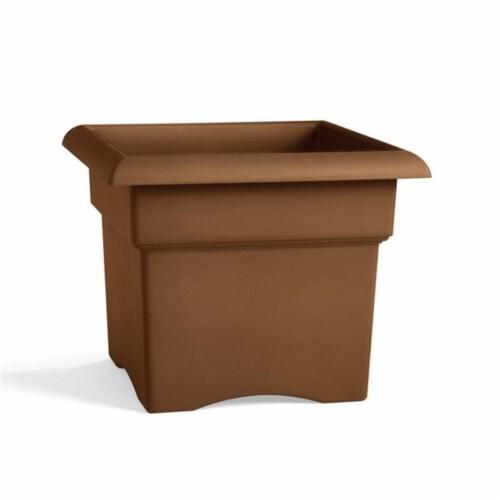 Fiskars 57314CH 14 in. Chocolate Colored Veranda Planter Box Perspective: front