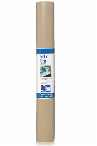 Magic Cover Solid Grip Non-Adhesive Shelf Liner - Taupe Perspective: front