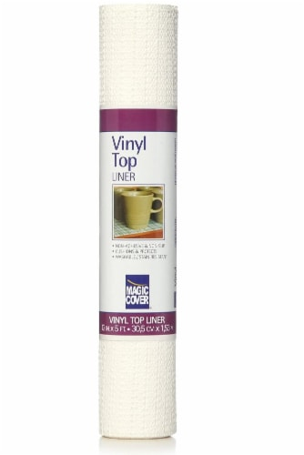 Magic Cover Vinyl Top Non-Adhesive Shelf Liner - White Perspective: front