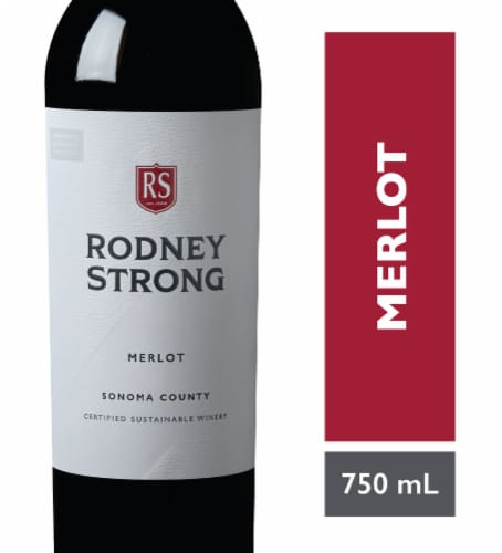 Rodney Strong Merlot Red Wine Perspective: front