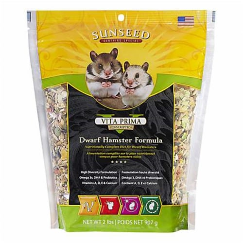 Vitakraft Sun Seed 220255 2 lbs Dwarf Hamsters Food - Case of 6 Perspective: front