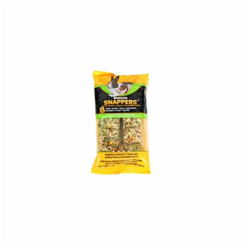 Sunseed Vita Prima Snaps For Pet Rabbits & Guinea Pigs 2 Ounce Peas & Cucumber 36048 Perspective: front