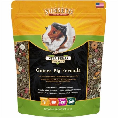 Vitakraft Sun Seed 220257 2 lbs Prima R&M Guinea Pig Food - Case of 6 Perspective: front