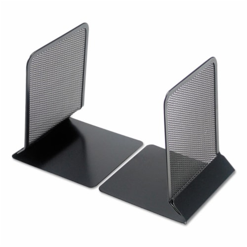Universal Metal Mesh Bookends, 5 3/8  X 6 3/4 , Black 20025 Perspective: front