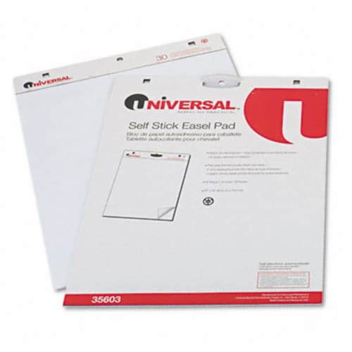 Universal Self-Stick Easel Pad, 25 X 30, White, 30 Sheets, 2/Carton 35603 Perspective: front